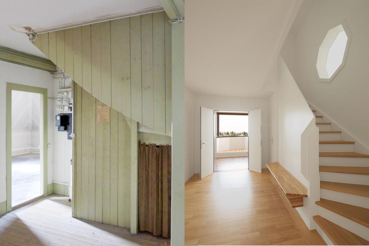 Gut bekannt Treppe Dachgeschoss Vorher-Nachher | JOM Architekten, Zürich QW93