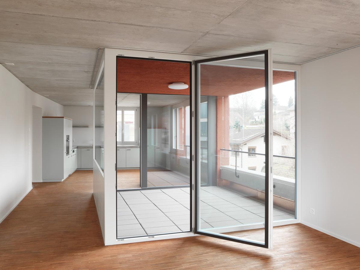 Loggia Wohnzimmer Kuche Jom Architekten Zurich