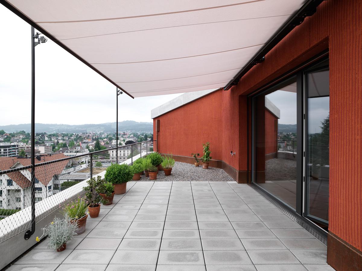 Attika Terrasse Sonnenschutz Jom Architekten Zurich