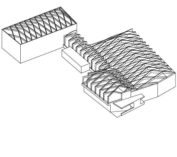 Holzbau Saal Struktur Diagramm   JOM Architekten, Zürich